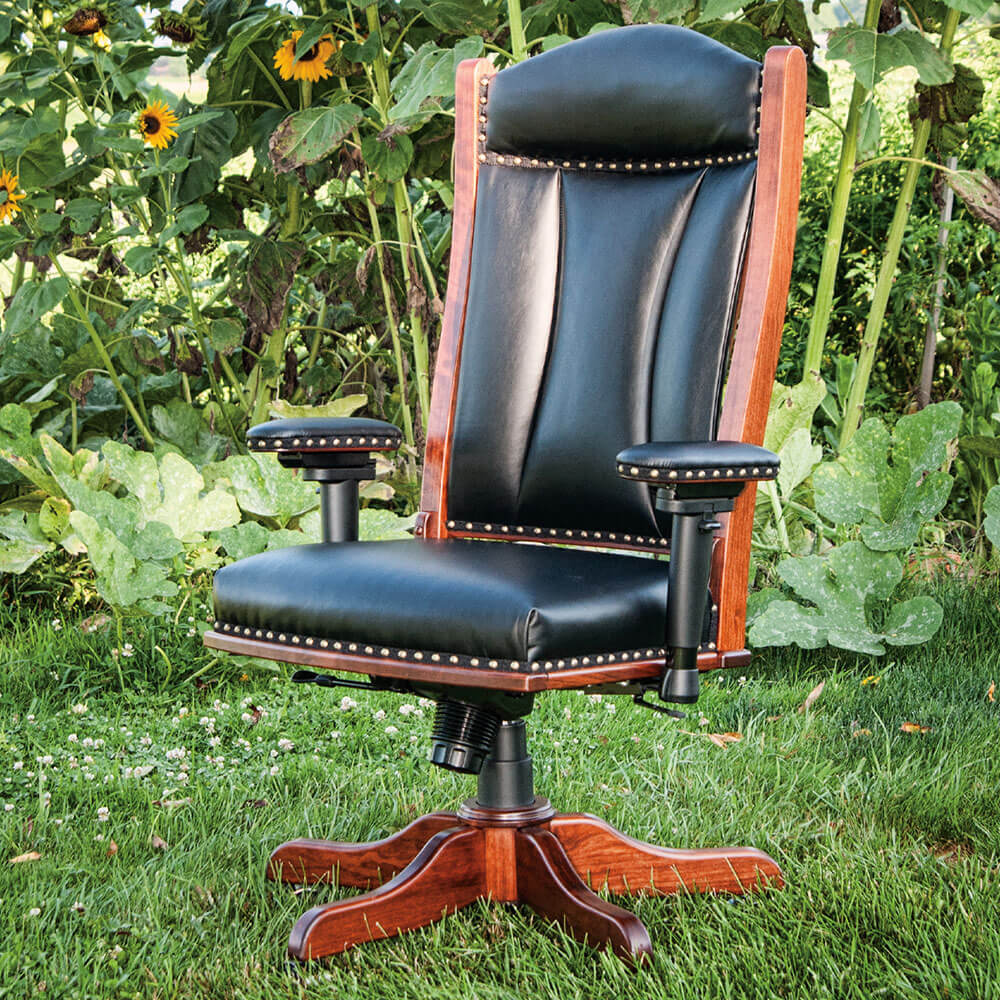River Woodworking DCA65 Desk Chair with Adjustable Arms