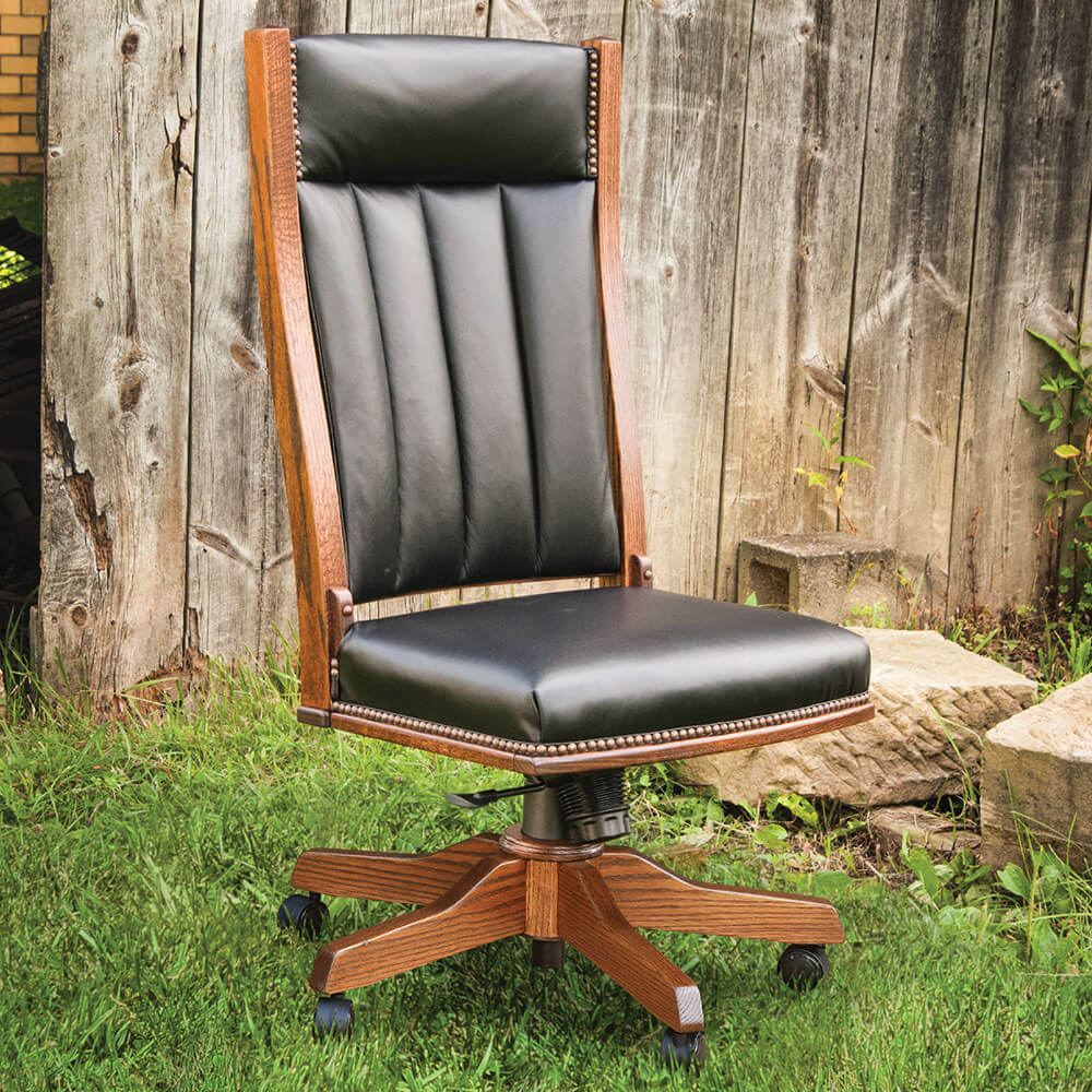 River Woodworking MSC260 Mission Side Desk Chair