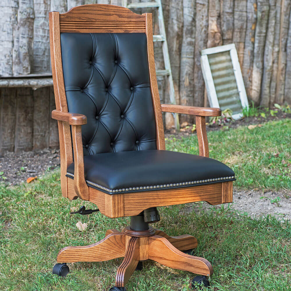River Woodworking SEAC340 Starr Executive Arm Chair